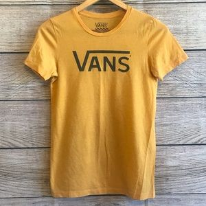 Vans Mustard Yellow T-Shirt w/ Black Lettering - M